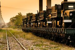 Rail transport. Stock Photography