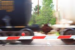 Rail Transportation. Action shot of rail transportation at work royalty free stock photo