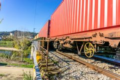 Rail transportation or freight transportation.  royalty free stock photography