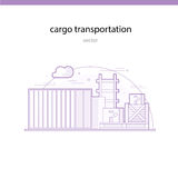 Rail transportation of particularly heavy and bulky goods in containers Royalty Free Stock Image