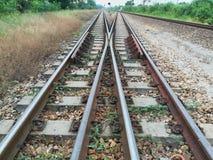 Rail transportation, the rail road track. Rail transportation, the rail road track, in Thailand royalty free stock images