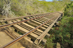Rail Truss Bridge at Koko Crater Stock Images