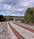 Rail under construction Royalty Free Stock Photography