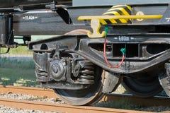 Rail wagon wheels Stock Image
