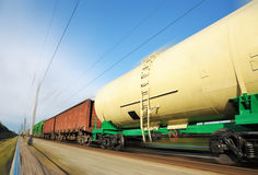 Rail wagons Royalty Free Stock Photo