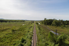 Rail way in country of thailand Royalty Free Stock Image