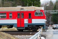 Rail Way Crossing Stock Photo
