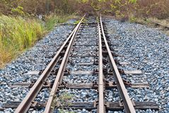 Rail way going toward a dead end Stock Image