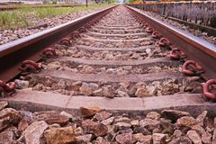 Rail way, major infrastructure for transportation. Thailand royalty free stock photos
