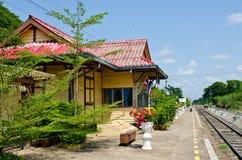 Rail way station at Sakreo province Royalty Free Stock Photos