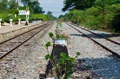 Rail way station at Sakreo province Stock Photos