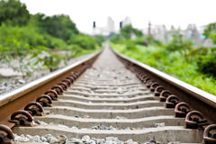 Rail way. Royalty Free Stock Image
