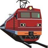Rail way transporter. Rail way passenger and cargo transporter Stock Photo