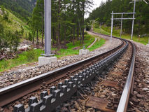 Rail Ways. In the mountain forests Stock Photography