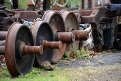 Rail wheels Royalty Free Stock Image