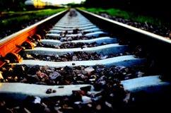 Rail. Where do destinations Stock Images