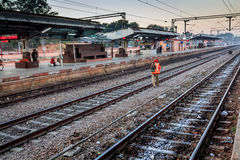 Rail worker Royalty Free Stock Photo