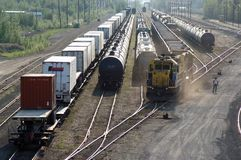 Rail Yard Royalty Free Stock Images