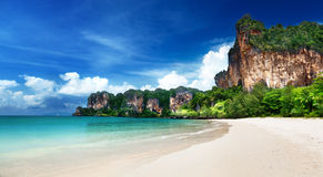 Railay海滩在Krabi泰国 库存照片
