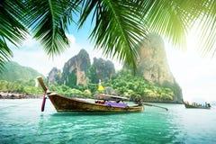 Railay海滩在Krabi 免版税库存照片