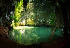 Railay盐水湖, Krabi 免版税库存照片