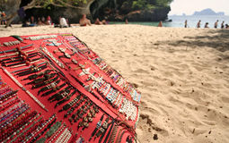 railay beach bracelets for sale thailand Royalty Free Stock Photo