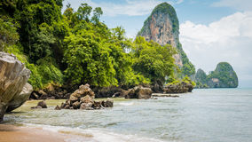 Railay Beach in Day Light in Krabi Thailand. Asia.  Stock Image