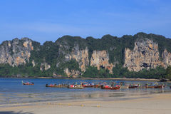 Railay Beach in Krabi province Thailand. Stock Image