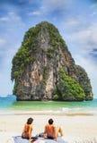 Railay beach. In Krabi Thailand Royalty Free Stock Photography