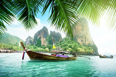 Railay beach in Krabi royalty free stock photo