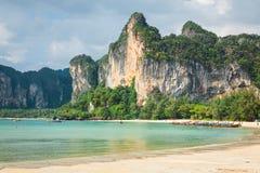 Railay beach in Krabi Thailand Royalty Free Stock Photos