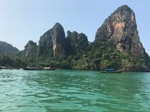 Railay beach in Krabi Thailand stock image