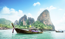 Railay beach in Krabi Thailand Royalty Free Stock Photo