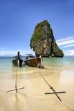 Railay beach Krabi Thailand. Long tail at Railay beach Krabi Thailand Royalty Free Stock Image