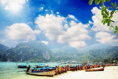 Railay beach in Krabi Thailand Royalty Free Stock Images