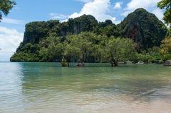 Railay beach in Krabi Thailand panorama Stock Photos
