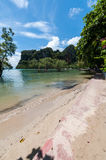 Railay beach in Krabi Thailand panorama Royalty Free Stock Photos