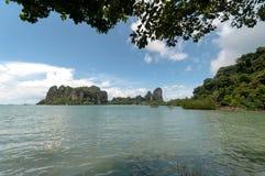 Railay beach in Krabi Thailand panorama Stock Photography