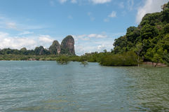 Railay beach in Krabi Thailand panorama Stock Images