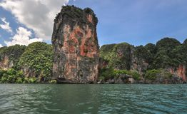 Railay beach in Krabi Thailand rock Stock Photos