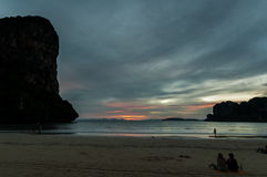 Railay beach in Krabi Thailand vacation Royalty Free Stock Photo