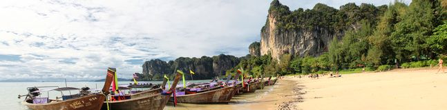 Railay Beach in Thailand Royalty Free Stock Photography
