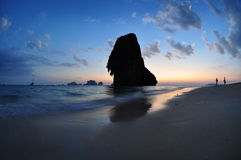 Railay beach, Thailand in blue hour Stock Image