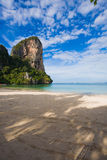 Railay Beach,Thailand. Blue sky, Railay Beach in Krabi province, Thailand Stock Image