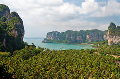 Railay beach from view point Stock Images