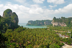 Railay beach from view point Stock Photo