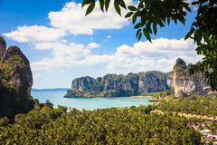 Railay beach from viewpoint Royalty Free Stock Photography