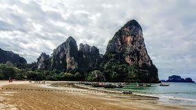 Railay beach west Royalty Free Stock Image