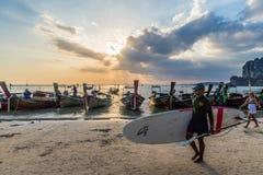 Пляж Railay в Krabi Таиланде стоковое фото rf