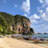 Railay Krabi. Beach Royalty Free Stock Photo